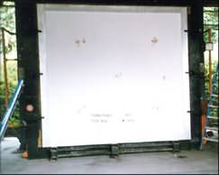 LITEBUILT® PANEL BEING PREPARED FOR FIRE TESTING
